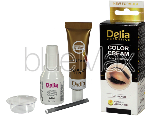 Крем-къна за оцветяване на вежди и мигли черна - Delia