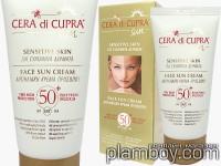 Слънцезащитен крем за лице за чувствителна кожа SPF 50 Cera di Cupra - Ciccarelli