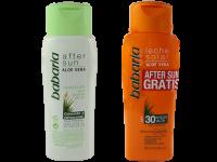 Комплект водоустойчив слънцезащитен лосион и балсам за суха и чувствителна кожа SPF30 - Babaria