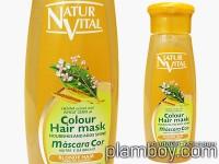 Оцветяваща маска за коса интензивна - руса коса - Natur Vital
