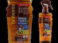 Водоустойчиво слънцезащитно сухо олио за лице и тяло с екстракт от кокос SPF50 - Babaria