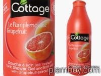 Пяна за вана, душ-гел и течен сапун 3 в 1 с грейпфрут-Cottage