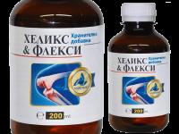 Антиоксидантна хранителна добавка сироп за кости с екстракт от охлюви Helix & Fleksy - Алекс 1977
