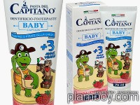 Детска паста за зъби с вкус на ягода - Baby +3 Capitano - Ciccarelli