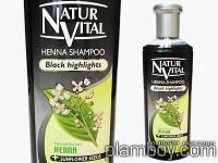 Оцветяващ шампоан за коса интензивен - черна коса - Natur Vital