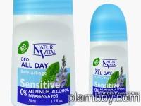 Био ролков дезодорант със салвия за чувствителна кожа - Natur Vital
