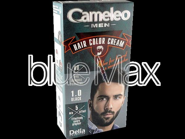 Оцветяваща крем-боя за бради и мустаци без амоняк - черна - Delia