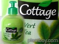 Гел-пяна за ръце и тяло със зелен чай - Cottage