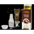 Крем-къна за оцветяване на вежди и мигли кафява - Delia