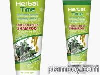 Подсилващ шампоан за всички типове коса - Herbal time - Rosa Impex